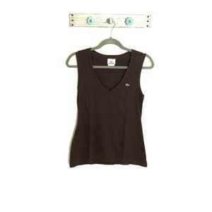 Lacoste 44 (size M) Brown Sleeveless Top